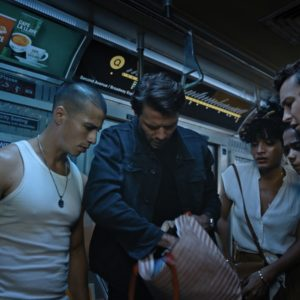 Rachel (Holland Roden), Theo (Carlito Olivero), Nathan (Thomas Cocquerel), Brianna (Indya Moore), Zoey Davis (Taylor Russell) and Ben Miller (Logan Miller) in ESCAPE ROOM: TOURNAMENT OF CHAMPIONS.