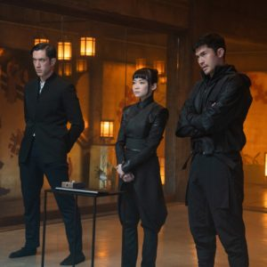 Andrew Koji plays Tommy/Storm Shadow, Haruka Abe plays Akiko and Henry Golding plays Snake Eyes in Snake Eyes: G.I. Joe Origins from Paramount Pictures, Metro-Goldwyn-Mayer Pictures and Skydance.