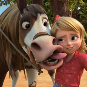 Abigail Stone (Mckenna Grace) and Boomerang in DreamWorks Animation's Spirit Untamed, directed by Elaine Bogan.