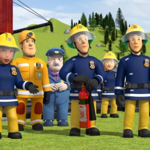 """FIREMAN SAM™ NORMAN PRICE & THE MYSTERY IN THE SKY MOVIE STILL :  Afterwards, Ellie asks, """"Has anyone else noticed that Flying-Man is always near the emergencies?"""" Sam replies, """"Yes... Always... I think we should take a look into what caused this one. I'm going to call PC Malcolm."""""""